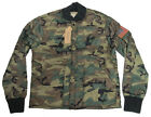 $225 Polo Ralph Lauren Denim & Supply Mens Camo Camouflage Flag Jacket Coat New