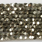 "Faceted pyrite nugget loose beads 16""  5mm 6mm"