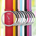 Chic Dalas Perspective Stainless Steel Trasparent Quartz WristWatch Rubber Band