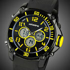 INFANTRY Police Mens Sport Quartz Military Army Rubber Chronograph Wrist Watch