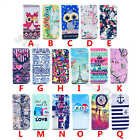 Pictorial Leather Rubber Flip Slim Card Stand Wallet Case Cover For Multi Phones