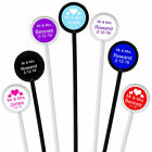 PERSONALISED Cocktail Stirrers, wide range of templates, hen do/wedding/birthday
