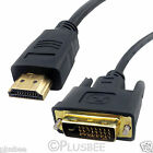 Gold HDMI to DVI-D Digital Video Cable Lead For PC Laptop To HDTV LCD Monitor UK