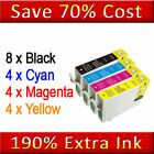 20(4SET + 4BK) NON-OEN Ink Cartridges Replace for Epson Printers