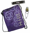 H.I.M. HIM GIFT SET DRAWSTRING BAG & BEACH TOWEL, WRISTBAND, HEARTAGRAM NECKLACE
