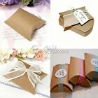 Hot New Good Kraft Paper Pillow favor Box Wedding Party Favor Gift Candy Boxes