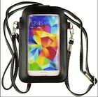 Black Leather Mini Bag Case For Samsung Galaxy S5/S6/NOTE4 /Apple iPhone 6/6Plus