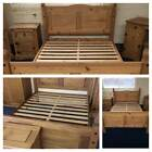 """Corona Mexican Wooden Bed Frame Single 3FT, Double 4""""6FT, King 5FT -High Low End"""
