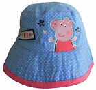 Girls Peppa Pig Blue Hat Fisherman Style Bush Baby Hat 1-4 and 4-6 Years