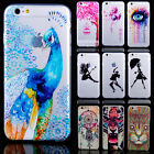 """Rubber Soft TPU Silicone Clear Pattern Case Cover For Apple iPhone 6 6 Plus 4.7"""""""