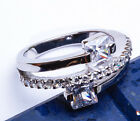 1.50CT Princess Cut  Russian CZ  .925 Sterling Silver Ring Sizes 6-9