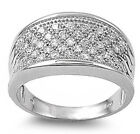 2 Carat Anniversary Wedding Band Russian CZ .925 Sterling Silver Ring Sizes 6-10