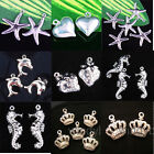 Wholesale Charms Silver Plated Loose Pendants Beads Jewelry Findings 20/50/100