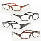 4 Pair Women READING GLASSES Optical  Assorted PLASTIC Men Black Brown Reader