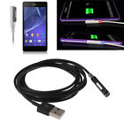 2M LED Magnetic USB Charging Cable Adapter For Sony Xperia Z1 Z2 Z3 Ultra XL39H