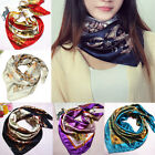 Lady Large Square Silk Pattern Scarf Head Wrap Kerchief Neck Satin Shawl Bandana