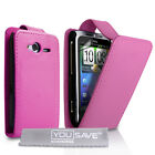 HTC Wildfire S: New Flip PU Leather Phone Cases: Free Screen Protectors Included