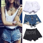Ladies Vintage High Waist Shorts Jeans Ripped Hole Short Jeans Shorts 4 Colors