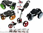 Axglo Trilite 3 Wheel Golf Trolley Pull Push10 Colours New 2015 Model Free Gifts