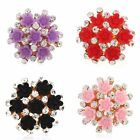 1pc Women Multi Flowers Open Crystal Rhinestone Ring Adjusted Rings Jewelry Gift