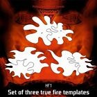 Airbrush stencil DELTAARTS Hell's Fire HF1 true fire set of 3 templates 3 sizes