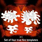 Airbrush stencil DELTAARTS Hell's Fire HF2 true fire set of 4 templates 3 sizes