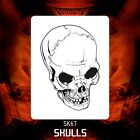 Airbrush stencil template DELTAARTS SKULL 67 -  4 SIZES AVAILABLE MINI MID