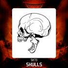 Airbrush stencil template DELTAARTS SKULL 73 -  3 SIZES AVAILABLE MID XL XXL