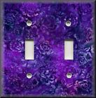 Switch Plates And Outlet Covers - Batik Floral - Purple - Home Decor