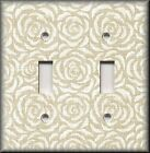 Switch Plates And Outlet Covers - Vintage Rosette - Cream Rose - Home Decor