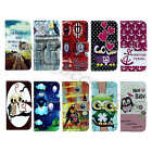 For LG Series New Painted Lively Card Stand PU Leather Flip Fold Case Cover Skin