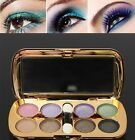 Eyeshadow Glitter 8 Colors Powder Makeup Palette Set Cosmetic With Brush Mirror