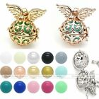 Mexican Bola Pendant Angel Wings Cage Harmony Chime Sounds Ball Chain Necklace