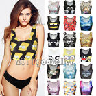 Women Midriff Crop Top Stretch Vest Sleeveless T-Shirt Blouse Camisole Tank Tops