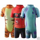 Boys Swimsuit Monsters University Cars Tigger Trunks Swimwear Kids All in One