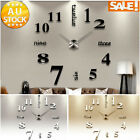 Living Room Large Art Design 3D DIY Wall Clock Home Modern Decoration Mirror