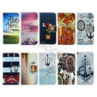 For Samsung Synthetic Leather Vintage ID Card Holder Media Stand Case Cover #S02