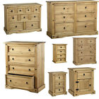 Mexican Corona Waxed Solid Pine - Chests of 1, 3,4,5,6 Drawers & Bedside Tables