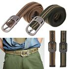 Unisex Webbing Military Mens Casual Canvas Pin Buckle Waist Belt Outdoors Belts