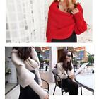 New Women's Knitted Loose Batwing Sweater Wrap Long Sleeve Coat Cardigan Scarf Z