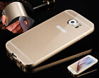 Lux Ultra-thin Aluminum Bumper Metal Case Back Acrylic Cover Skin For Samsung S6