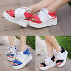 Fashion Summer Lace Up Cleated Sole Sandals Leisure Mid Heels Platforms Shoes