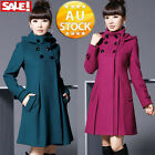 Hoodie Women Jacket Coat Overcoat Casual Slim Fit Trench Parka Winter Warm Mode