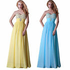 UK Clearance Strapless Long Bridesmaid Formal Evening Dresses Party Prom Gowns ❤