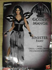 Sinister Fairy Gothic  Ladies Fancy Dress Hen Halloween Party Costume Outfit