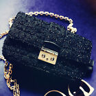 New Fashion Womens Purse Clutch Gold Lock Chain Shoulder bag Handbag Crossbody