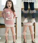 Brand New Kids Toddler Girls Lovely Lace Clothing Leggings Pants Trousers Sz2-7Y