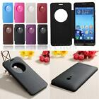Thin Smart Window View Flip PU Leather+PC Battery Cover Case For ASUS Zenfone 5