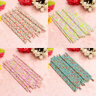 25Pcs Biodegradable Paper Flower Floral Drinking Straws Birthday Party Wedding