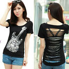 SEXY TREND GIRL SKULL COLOR STYLE 7013 STYLE SLEEVES SHIRT TOP